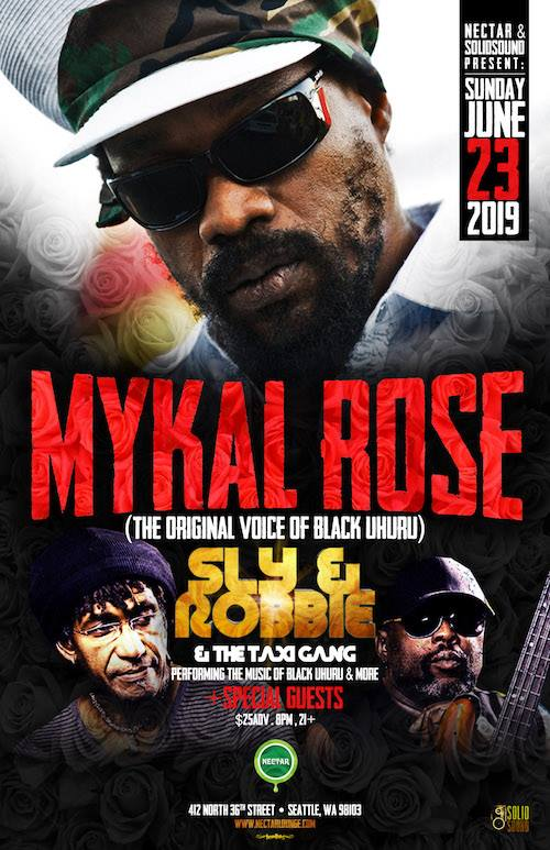 Mykal Rose with Sly and Robbie Event Poster