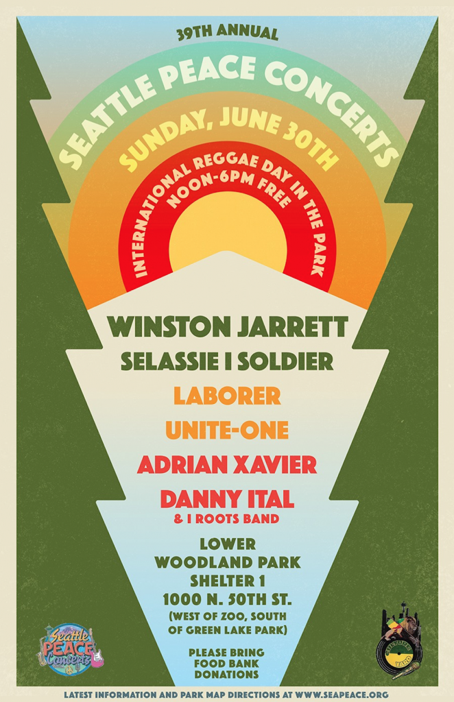 Seattle Peace Concert Flyer
