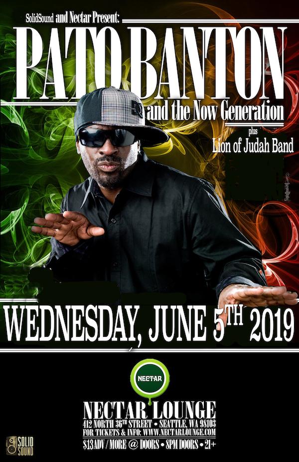 Pato Banton Event Poster